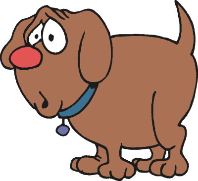 Dog clip art library. Clipart dogs worried