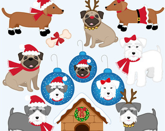 Clipart dogs xmas. Free christmas cliparts download