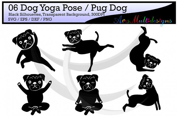clipart dogs yoga