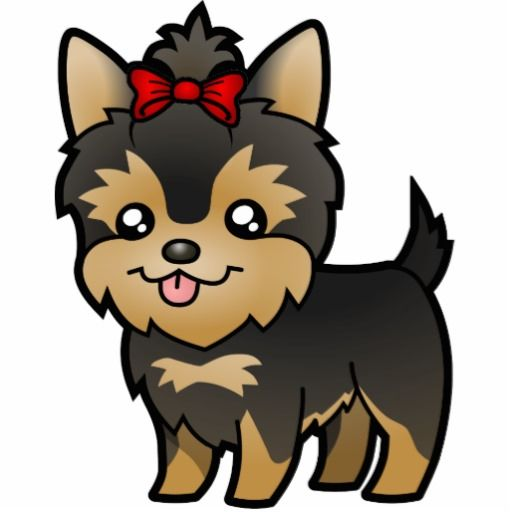 Dog clipart yorkie. Free clip art and