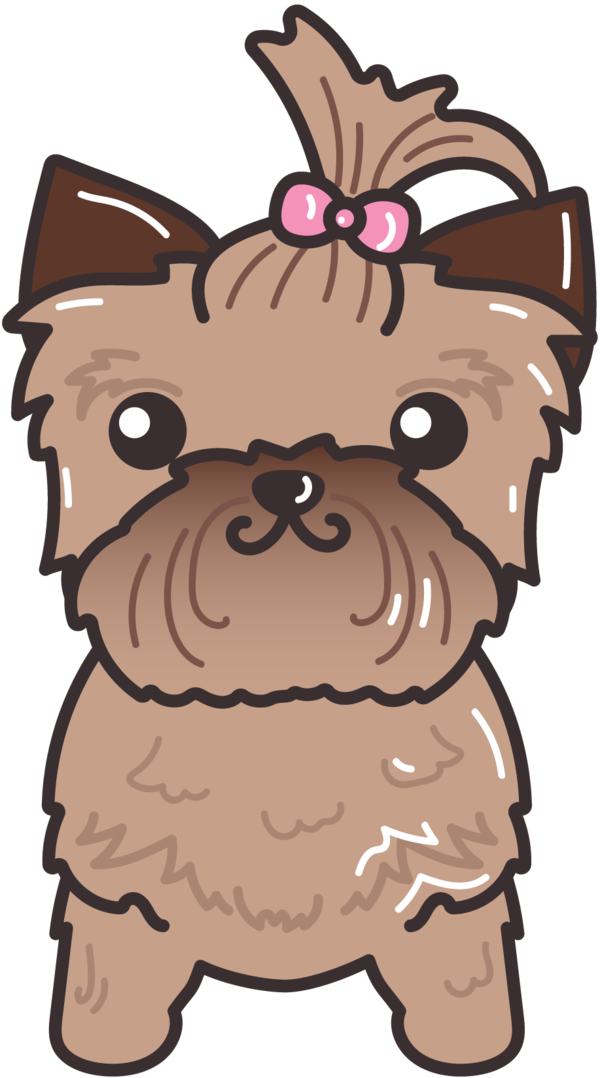 Cute dog by barovlud. Clipart dogs yorkie