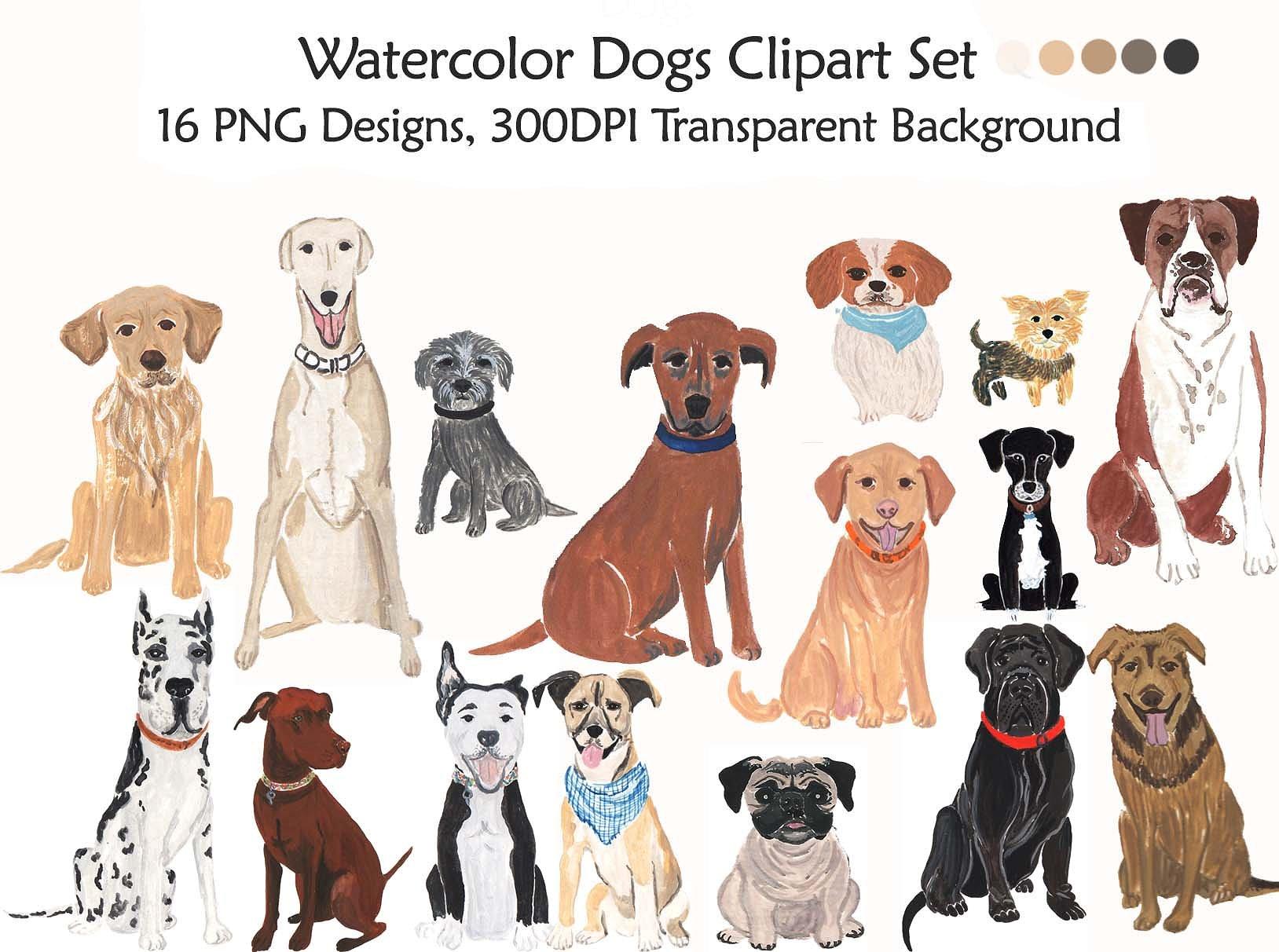 Handmade illustration illustrations creative. Clipart dogs