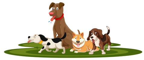 Dog free vector art. Clipart dogs
