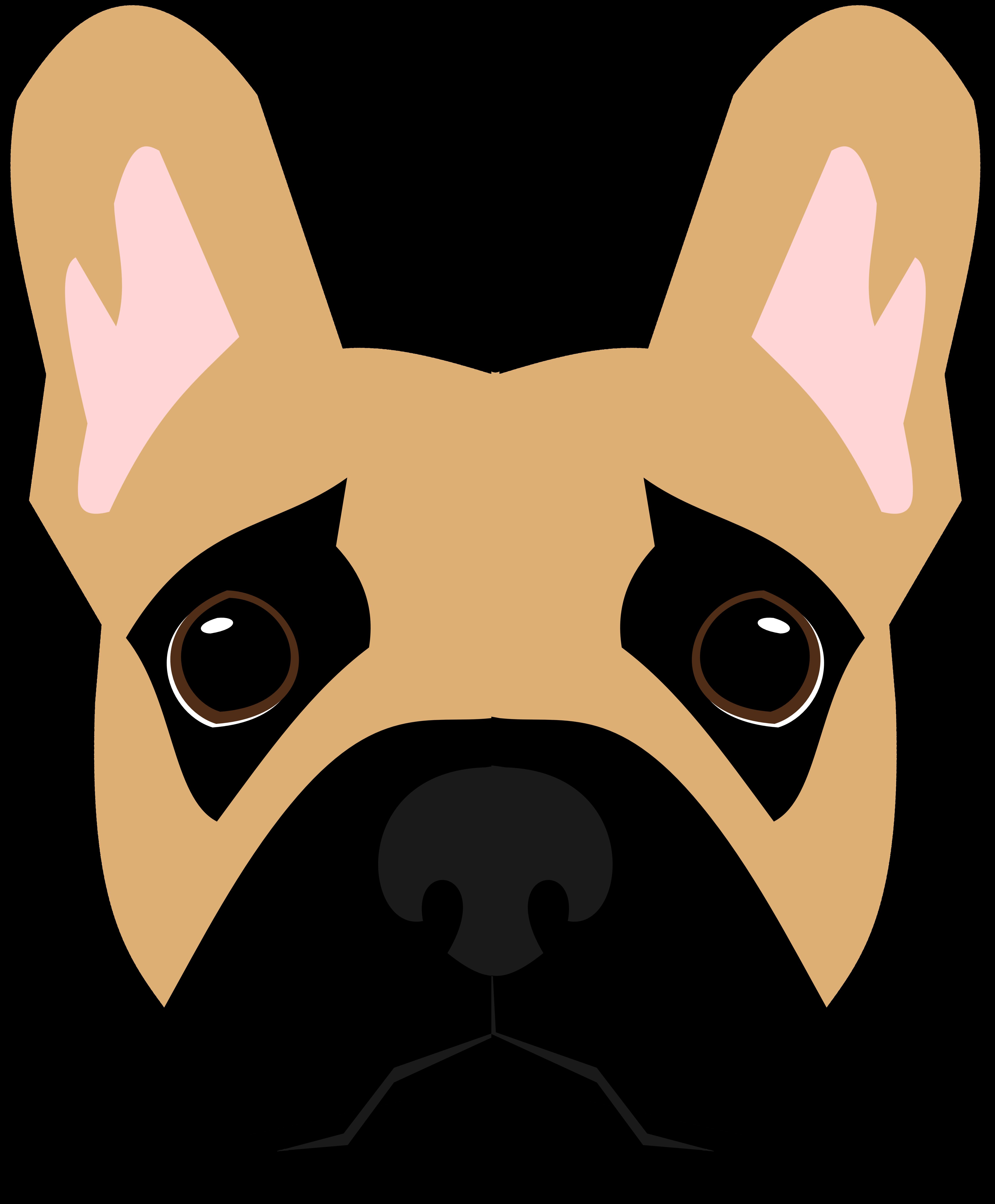 Frenchie vector dogart pinterest. Clipart face boston terrier
