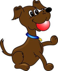 Puppy image cartoon dog. Dogs clipart ball