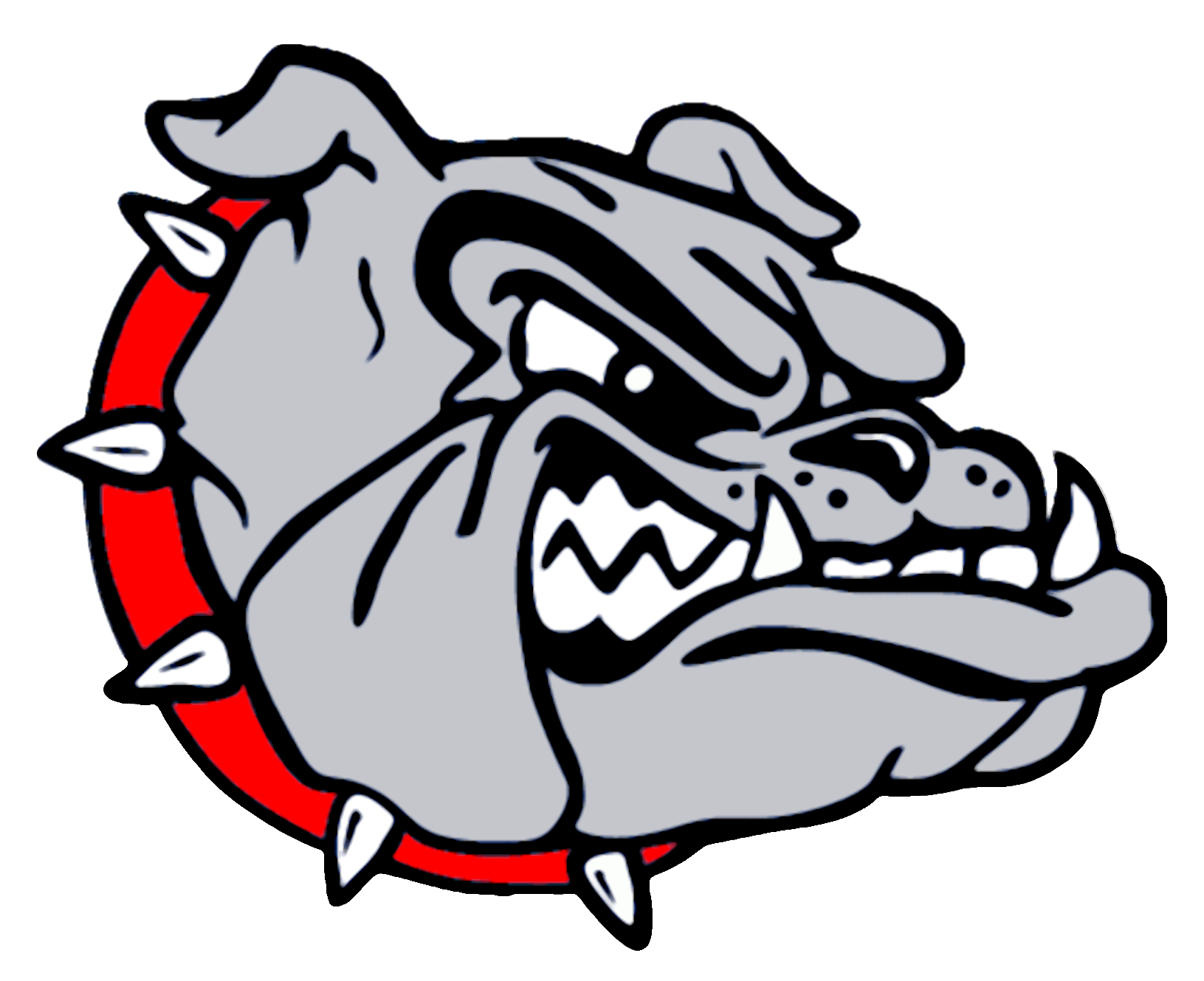 Mascots shared by wrestling. Husky clipart bulldog