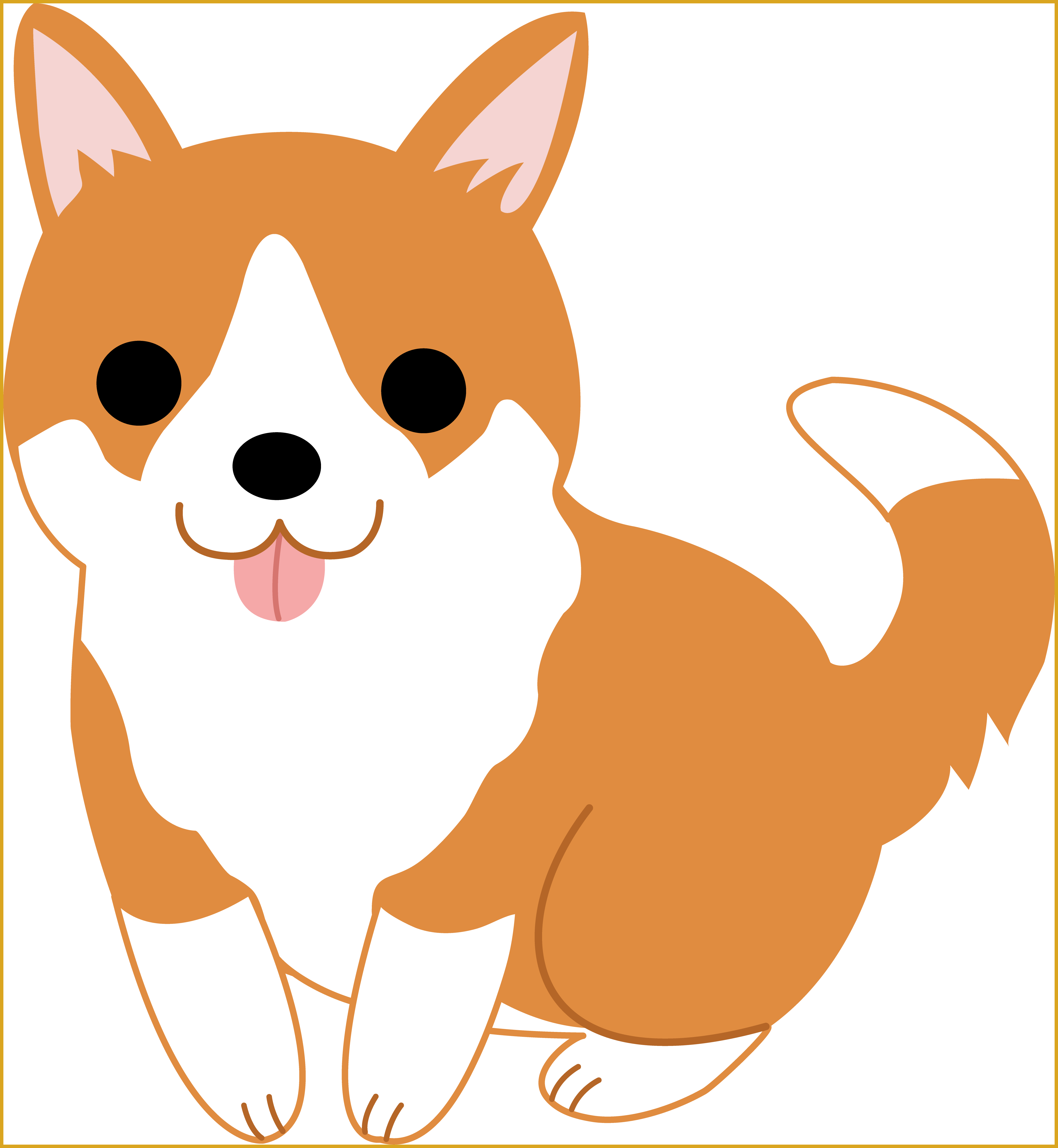 clipart puppy puppy face