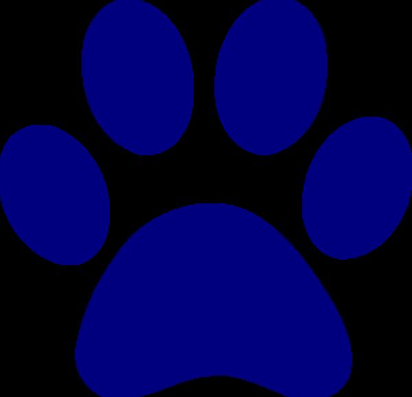 Paw clipart lynx. Dark blue print md
