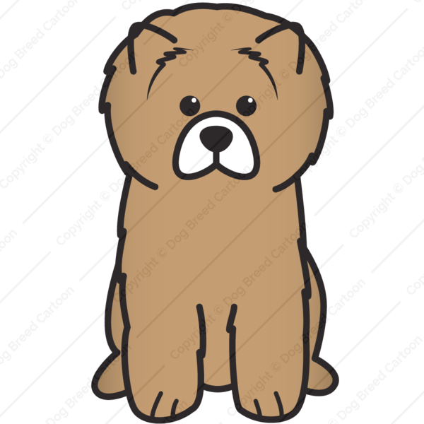 Dogs clipart brown. Chow edition dog breed