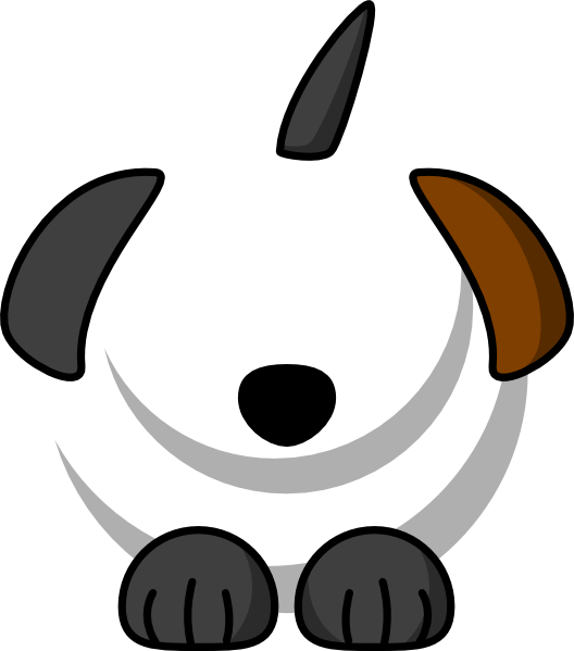 Dog black brown clip. Clipart puppy ear