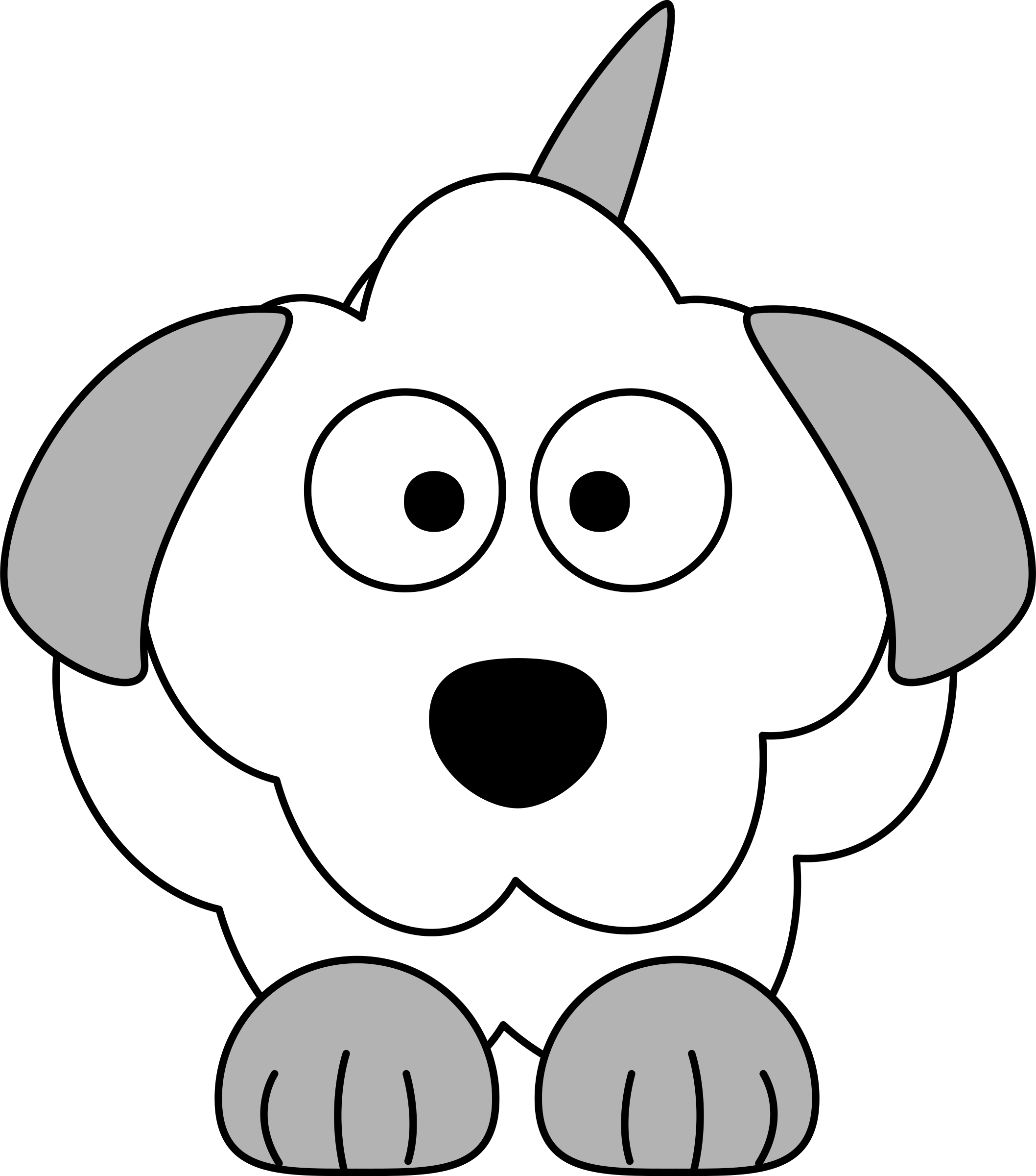 Clipart dog colour. French poodle cartoon big