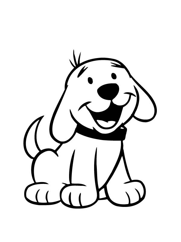 Clipart dogs colour. Free cartoon pictures of