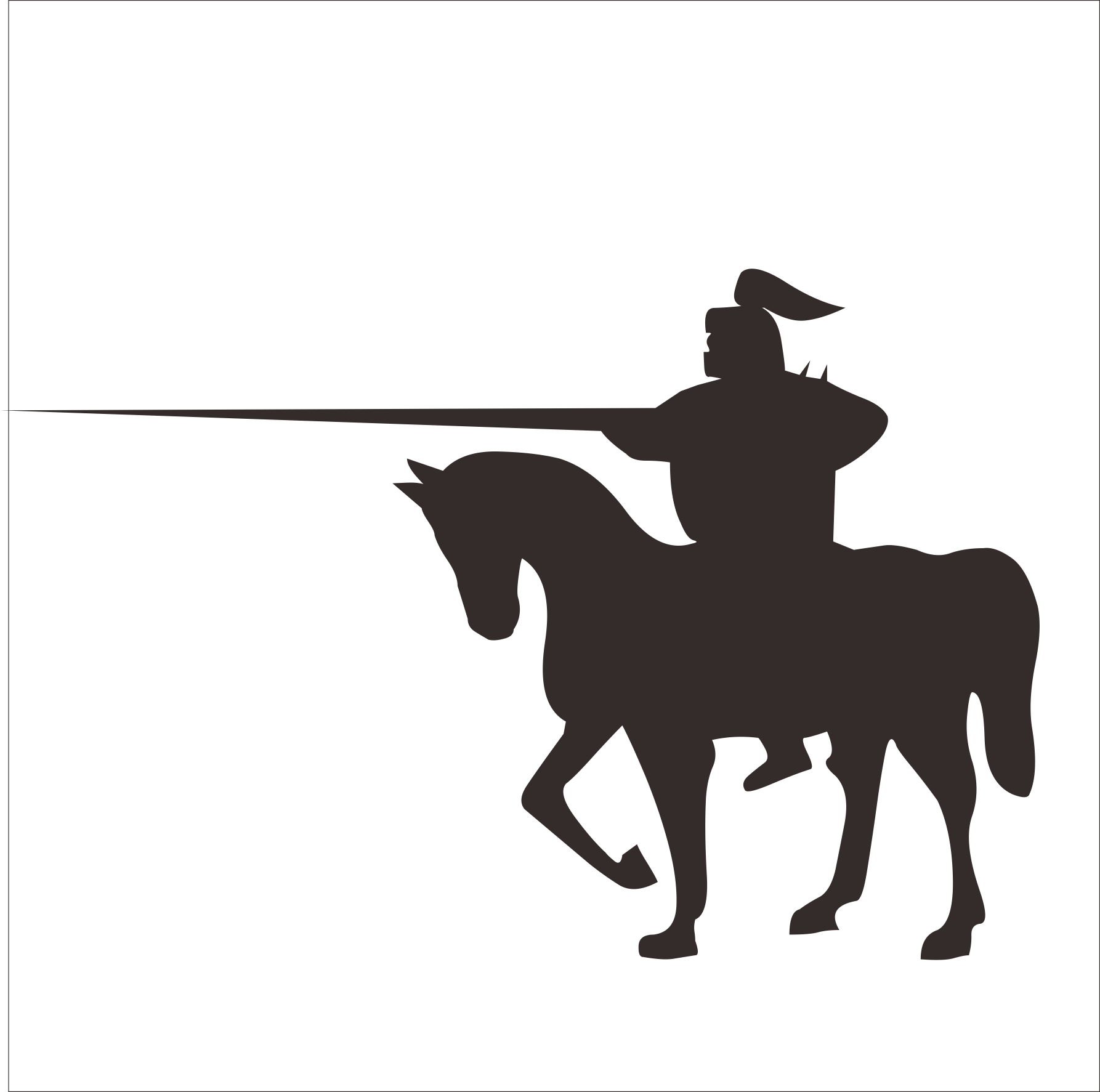 Horse central asian shepherd. Clipart dogs cowboy