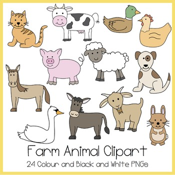 Farm animals pictures . Hen clipart domestic animal