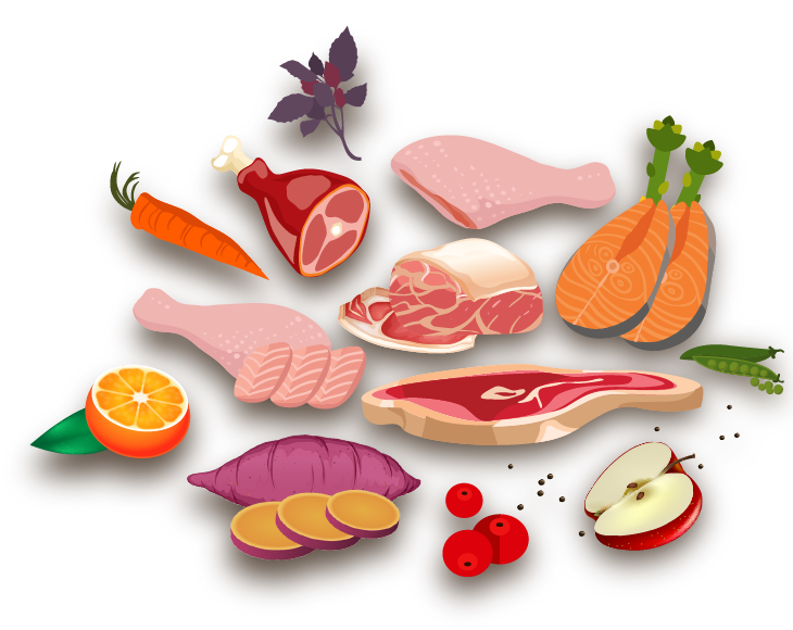 Goodness holistic grain free. Foods clipart meat