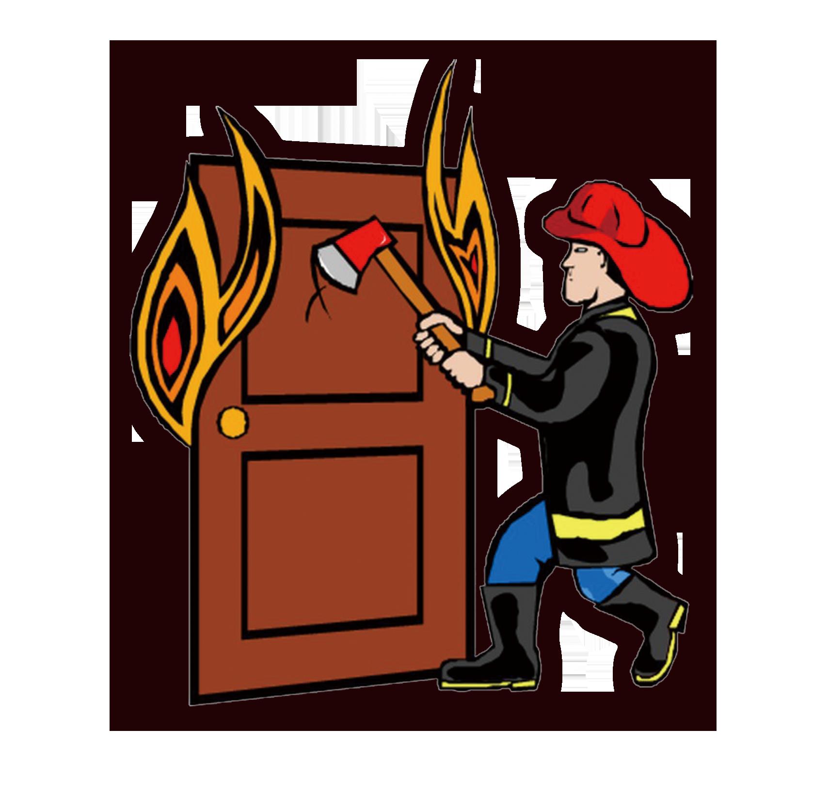 Clip art cartoon fire. Firefighter clipart building