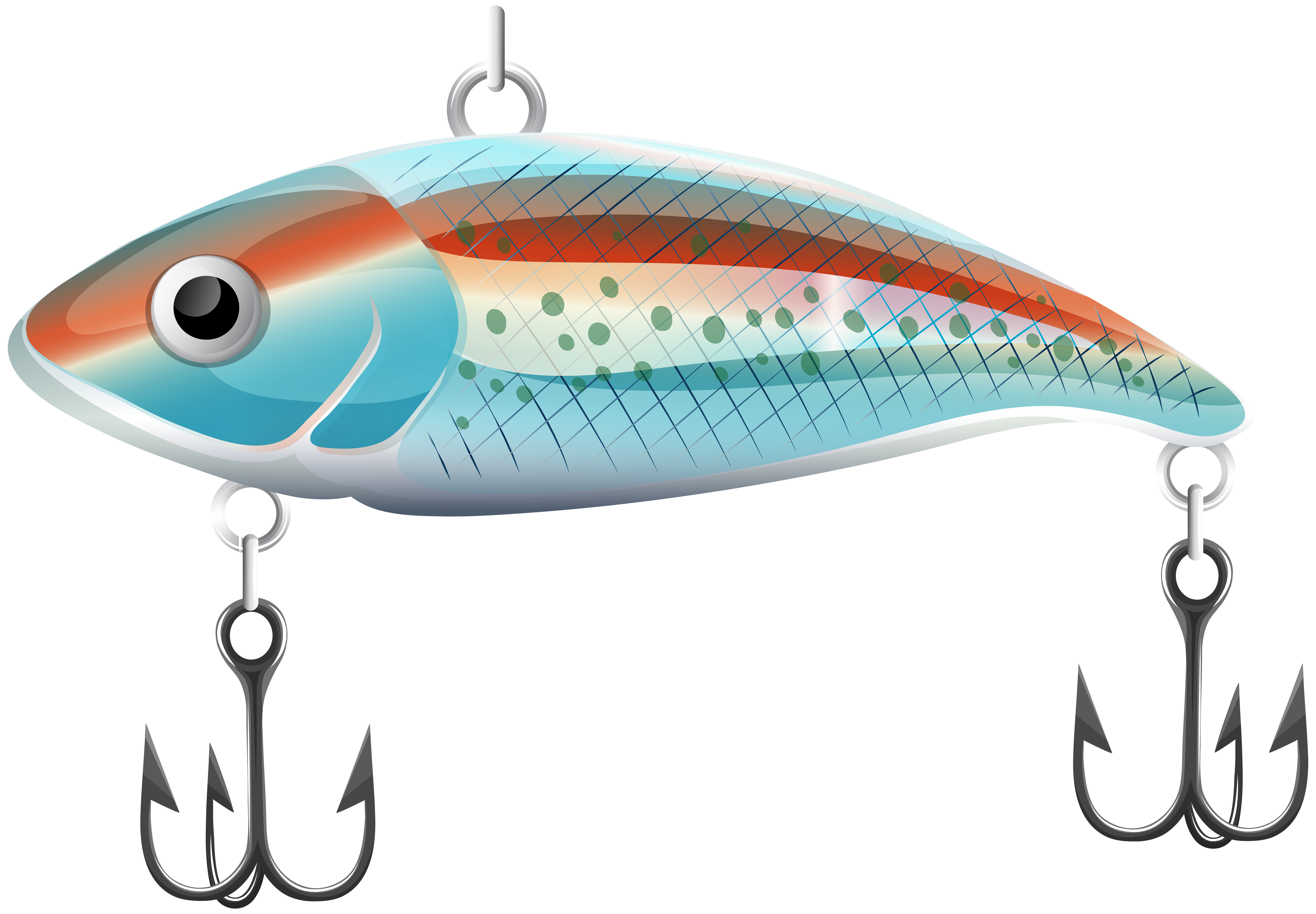 Fish clipart teal. Fishing bait png clip