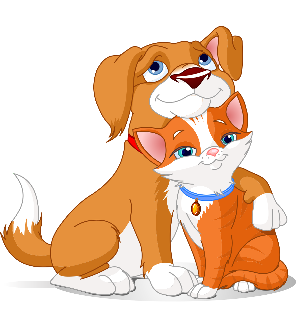 Pet clipart hug dog. Cat relationship clip art