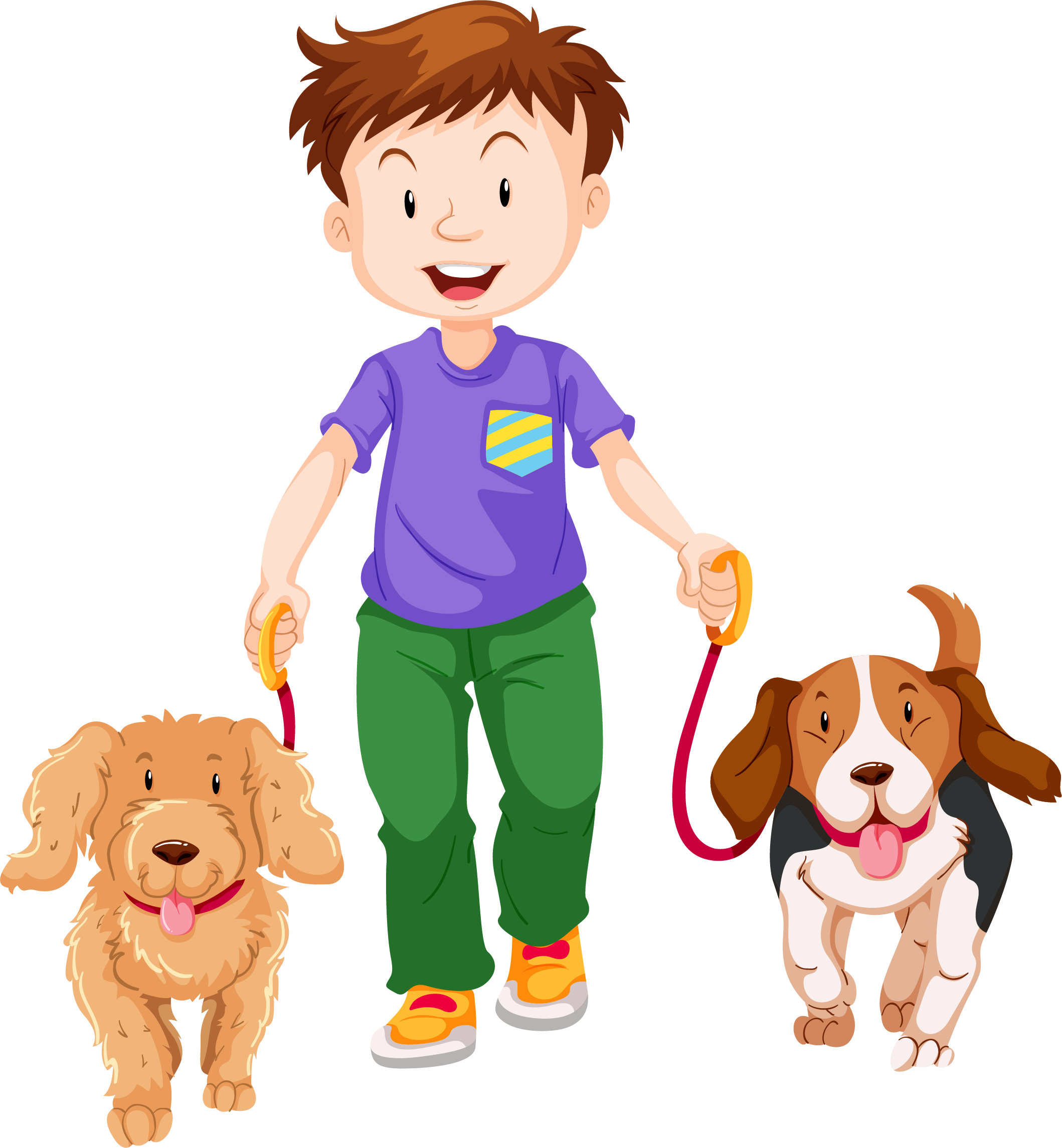 Pet clipart boy dog. Walking clip art cartoon