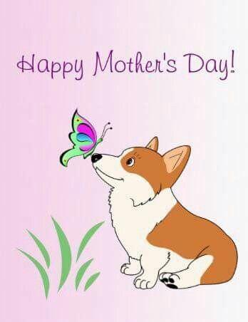 Corgi clipart mothers day. Happy corgis drawing dog