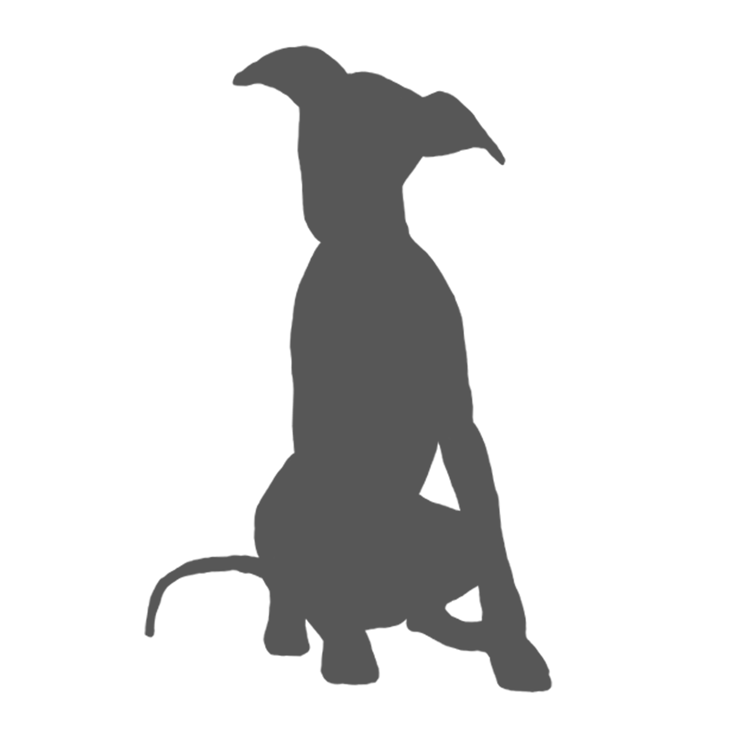 Whippet silhouette google search. Dogs clipart yoga