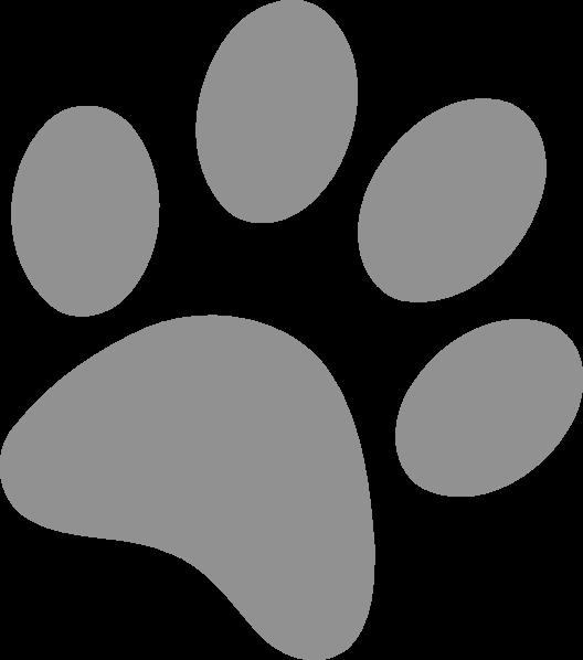 Clipart dogs paw print. Dog prints clipartblack com