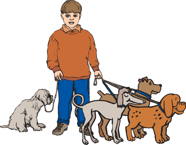 Clipart dog person.  collection of walking