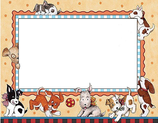 Puppies how cute frames. Dogs clipart picture frame