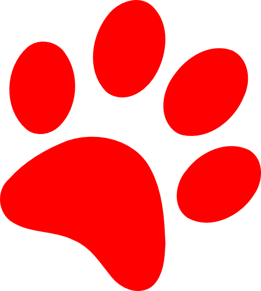 footsteps clipart red