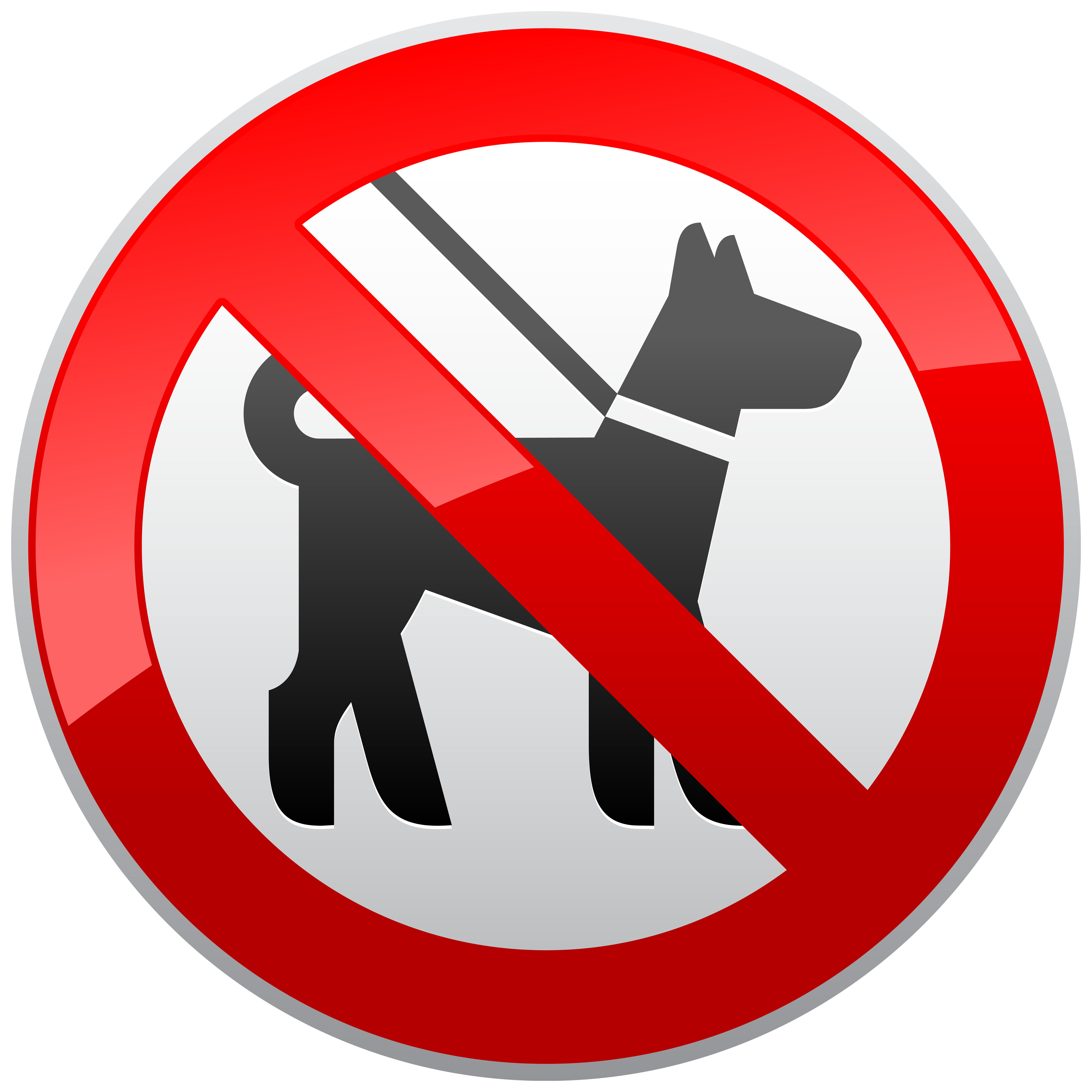 No sign prohibition png. Clipart dogs red