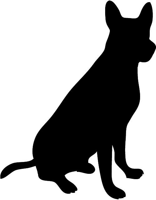 Dog . Pet clipart silhouette