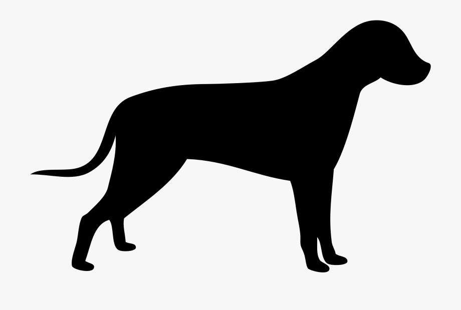 Clip art dog with. Clipart dogs silhouette
