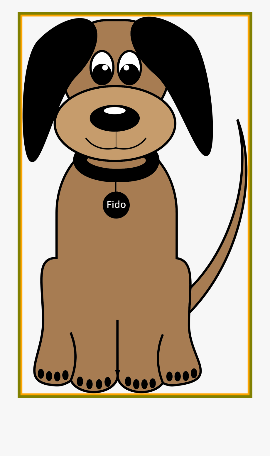 Dogs clipart cartoon. Brown easy simple dog