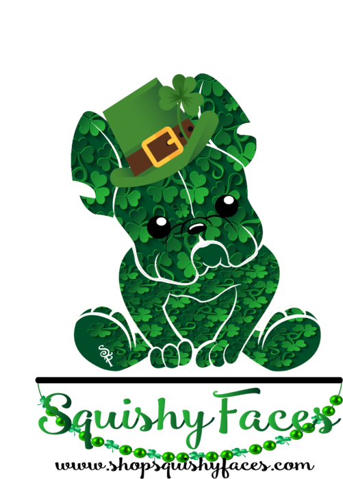 Patricks squishy faces you. Clipart dogs st patrick day