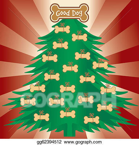 Dogs clipart tree. Eps illustration christmas for