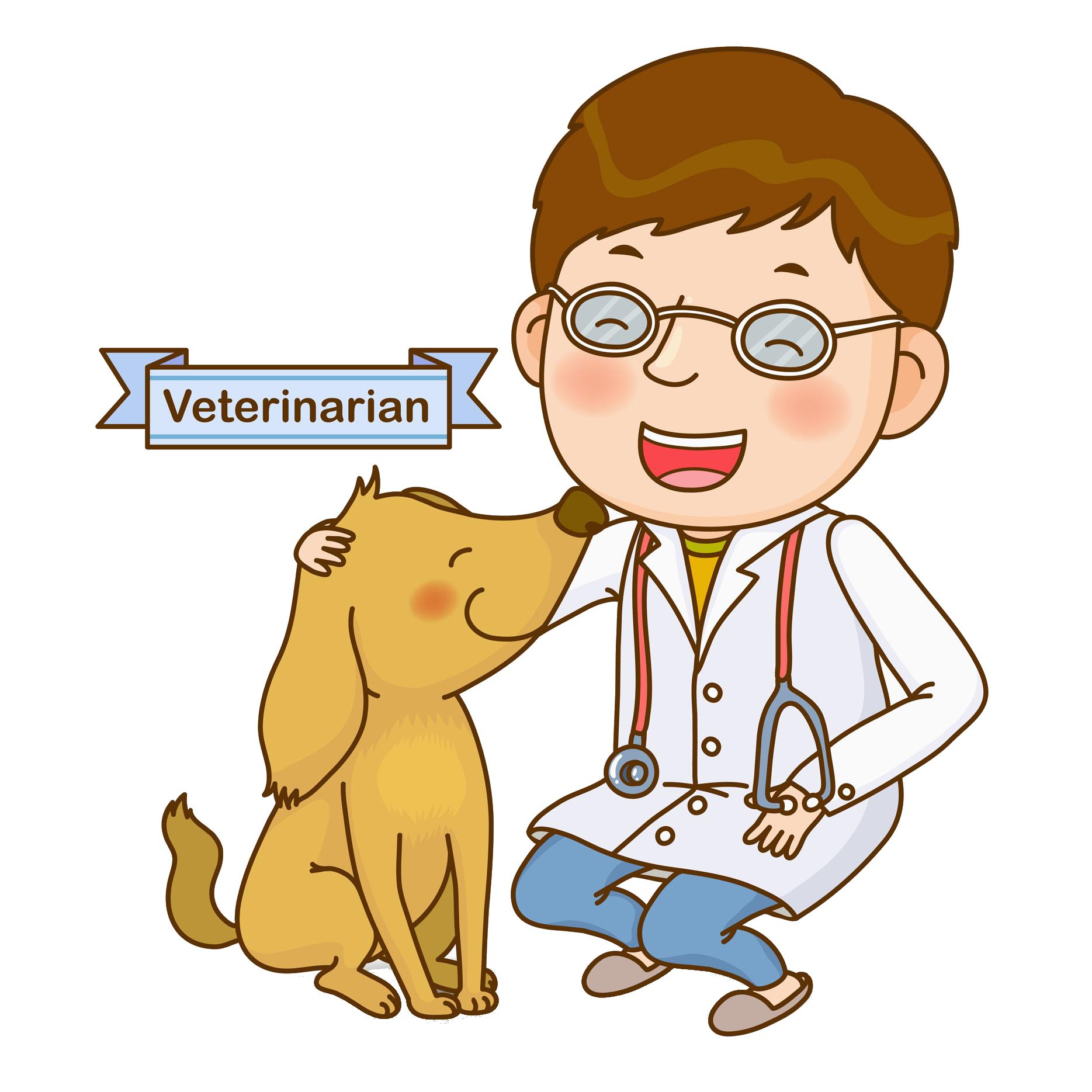 Dog clip art cute. Veterinarian clipart person