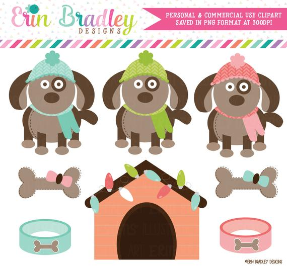 Clipart dogs winter. Graphics with dog house