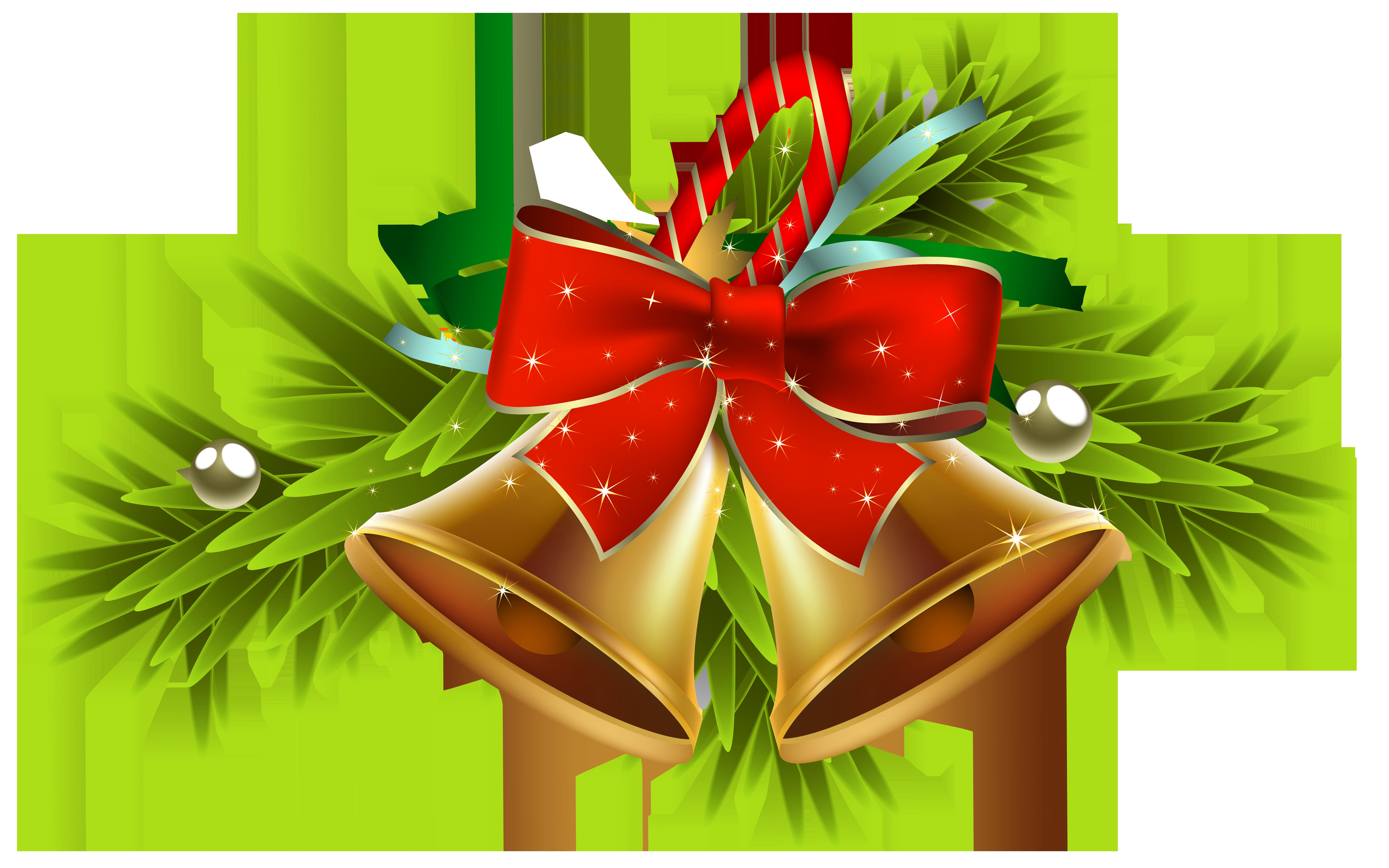 Clipart dogs xmas. Christmas golden bells decor