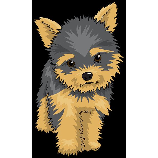 Yorkiemoji emoji stickers by. Clipart dogs yorkie