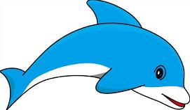 Dolphin clipart reading fun. Free