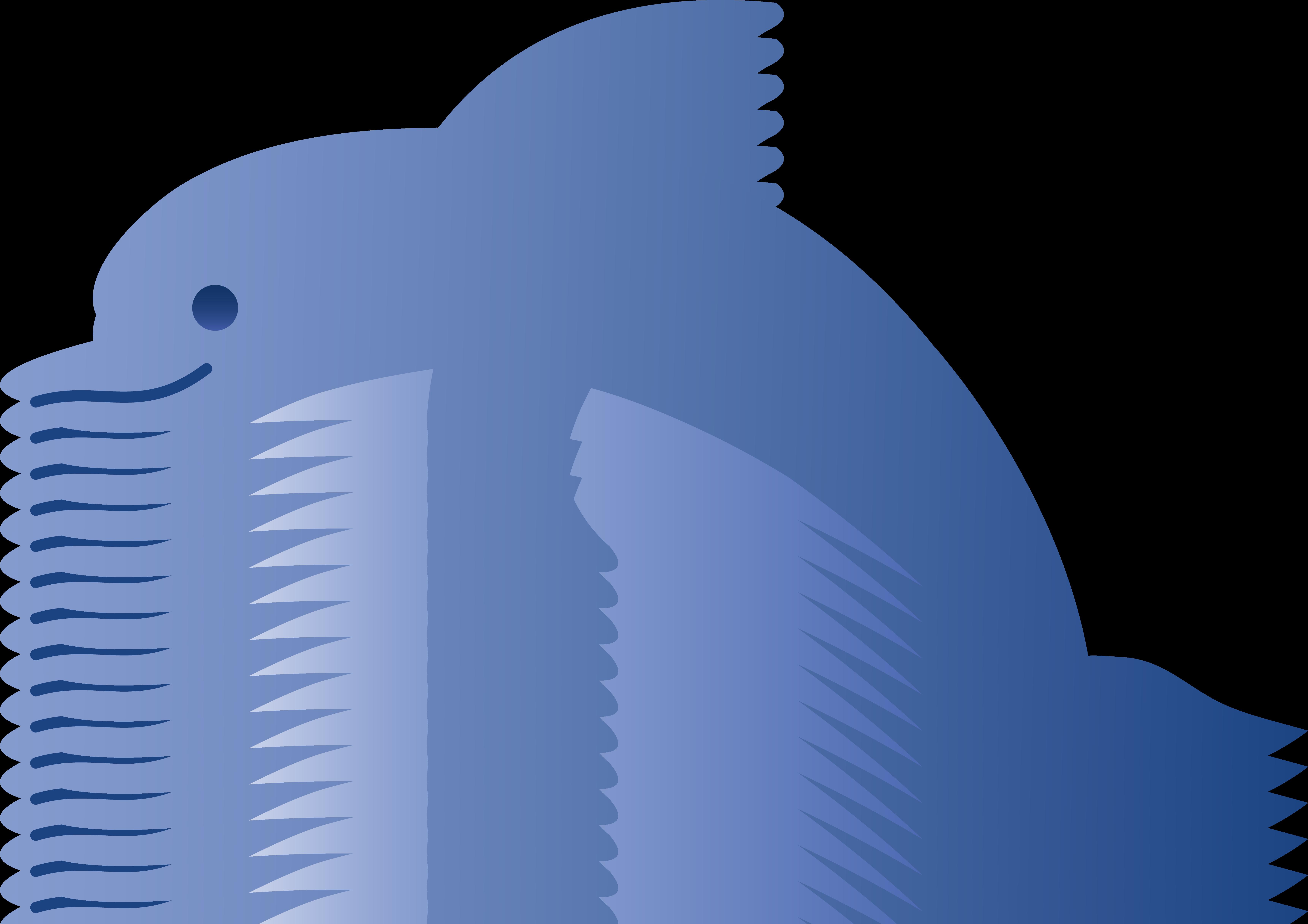 Clipart dolphin. Cute blue free clip