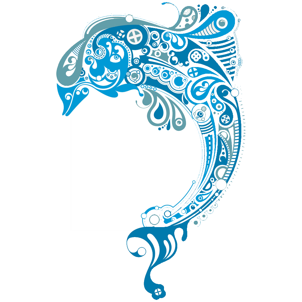Art clip transprent png. Dolphin clipart abstract