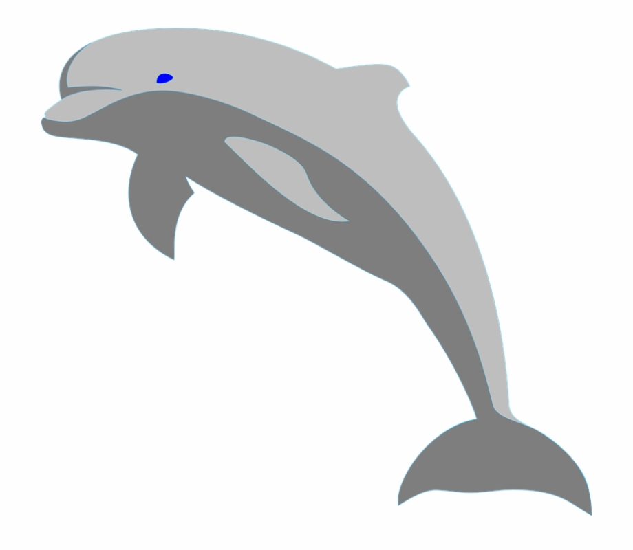 Fish porpoise sea leaping. Dolphin clipart mammal