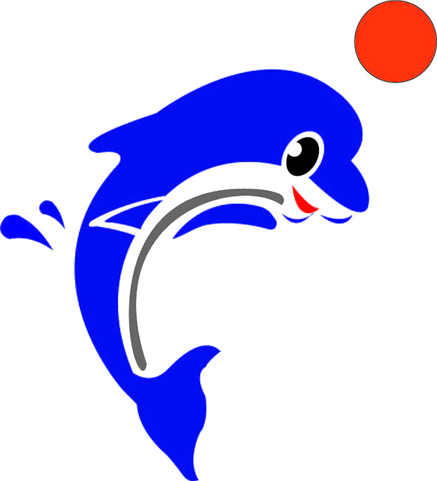 Cartoon tone transprent png. Clipart dolphin animation