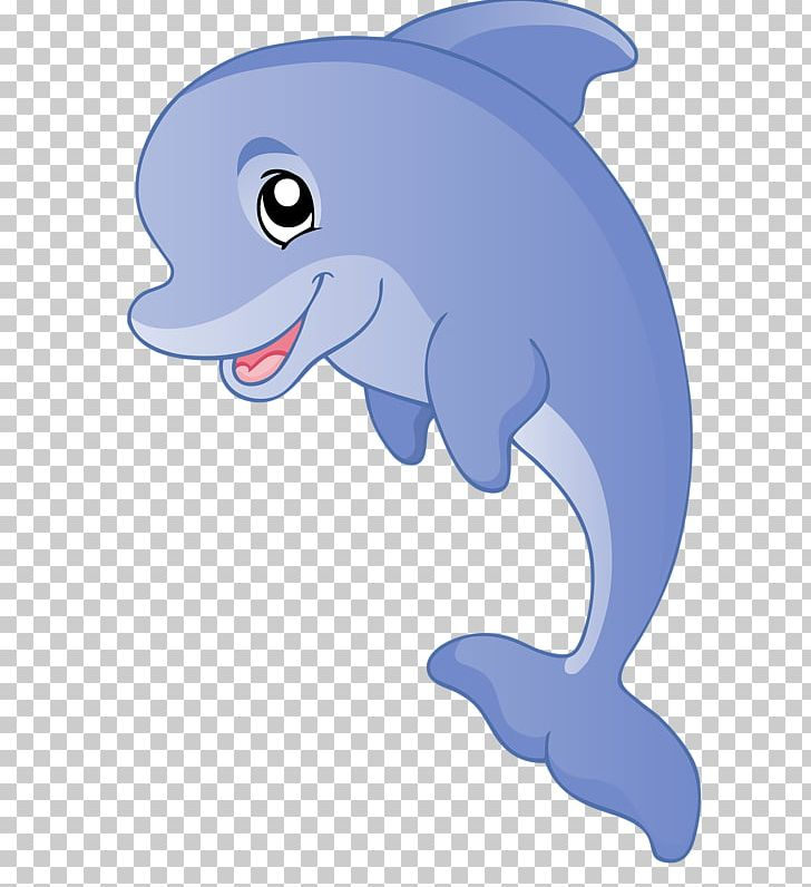 Tucuxi common bottlenose cartoon. Clipart dolphin animation