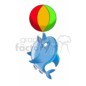 Dallas the cartoon playing. Clipart dolphin ball