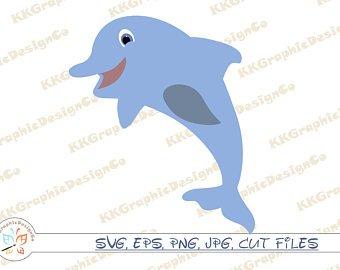 Clipart dolphin basic. Clip art etsy