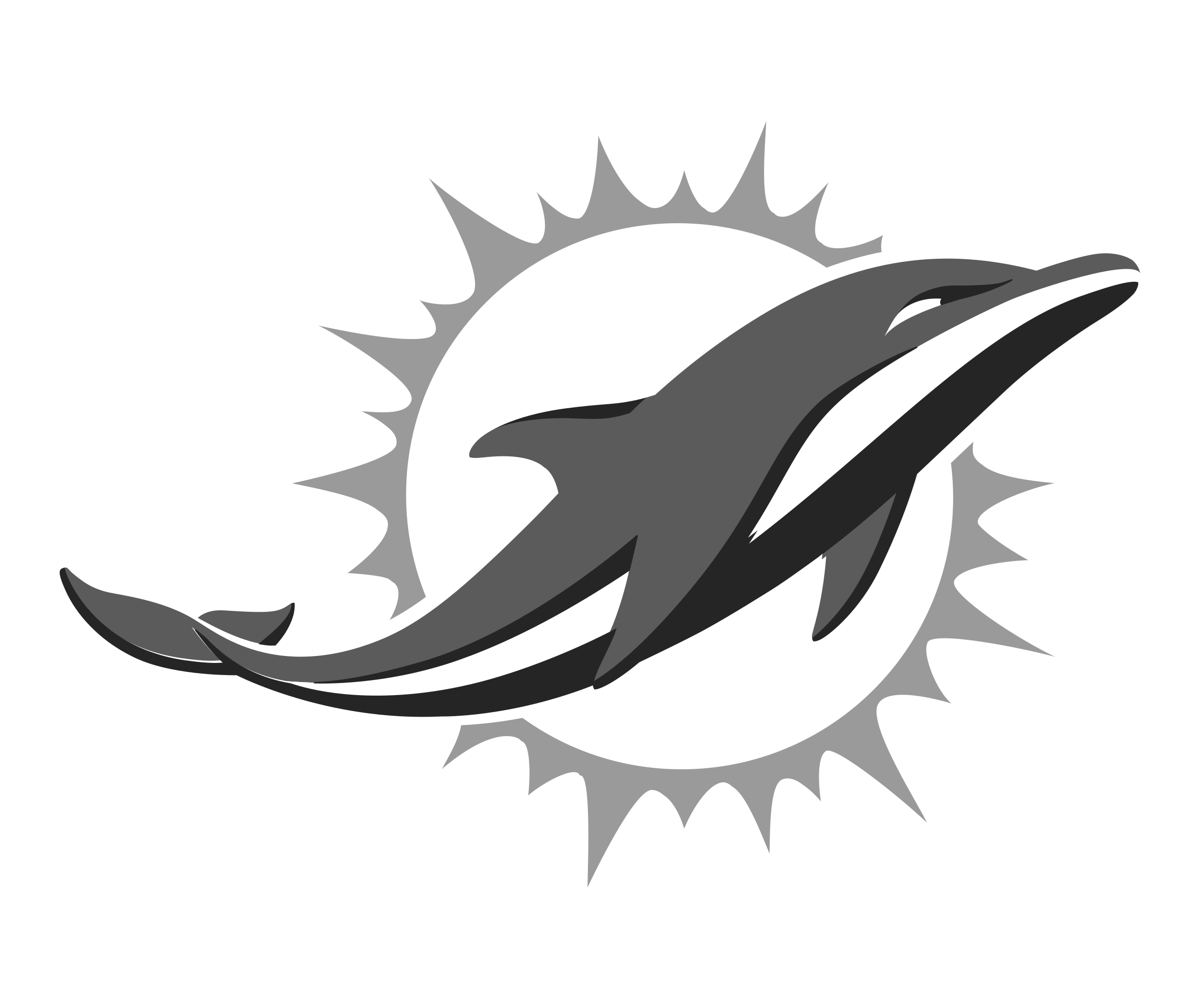 Clipart dolphin black and white. Miami dolphins logo png