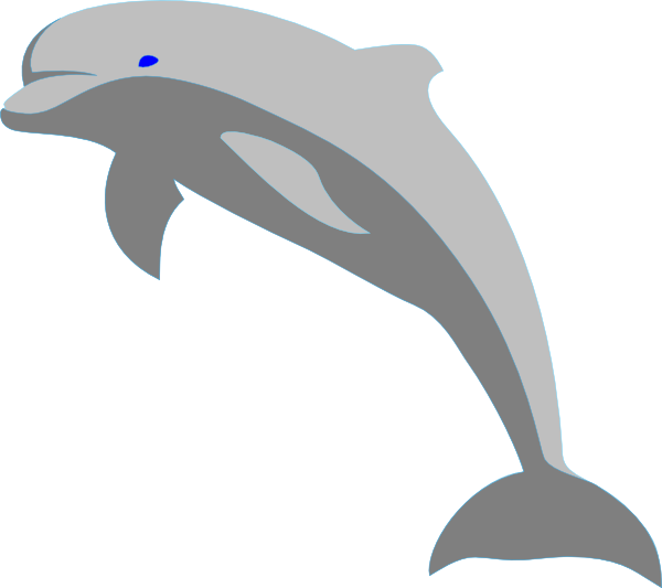 Gray clip art at. Clipart dolphin border
