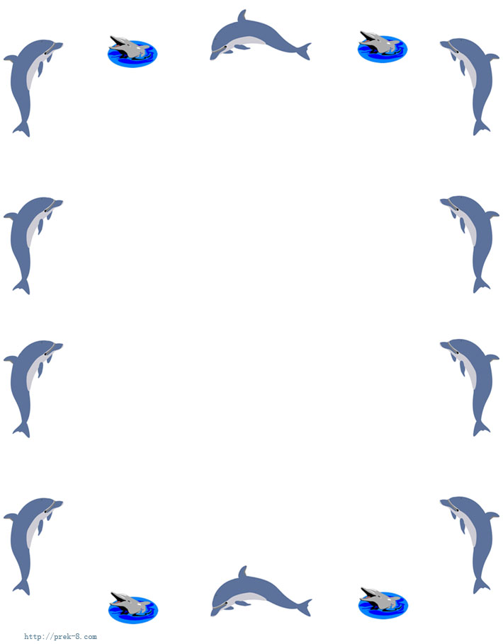 Free page download clip. Dolphin clipart border